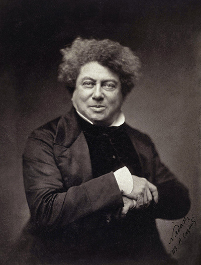 ALEXANDRE DUMAS VISITED VICTOR HUGO, HIS LIFELONG FRIEND, IN GUERNSEY IN 1857